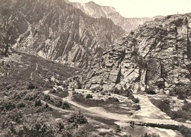 Биг-Коттонвуд-Каньон, штат Юта. Снят в 1868 году.