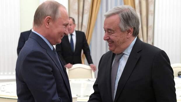Гутерреш заявил о желании встретиться с Путиным в Нью-Йорке