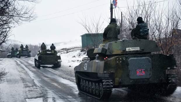 Ополченцы Донецкой народной республики движутся в сторону Славянска. 21 января 2015