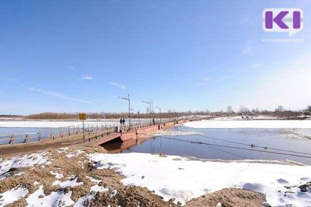 В Сыктывкаре закрывается движение по понтонному мосту в Заречье