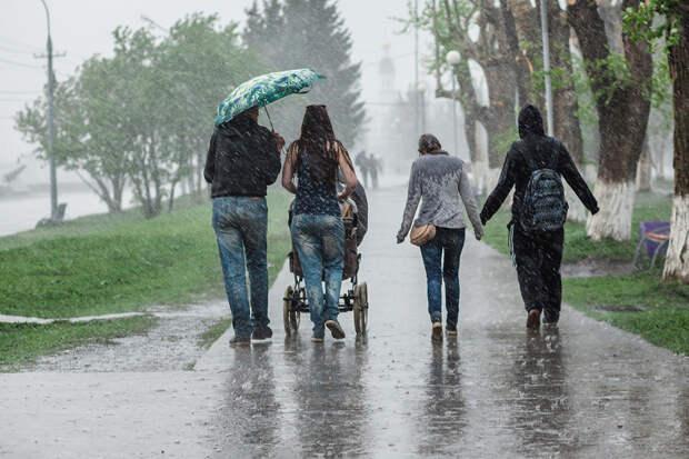 Жителей Центральной России предупредили об аномальных ливнях
