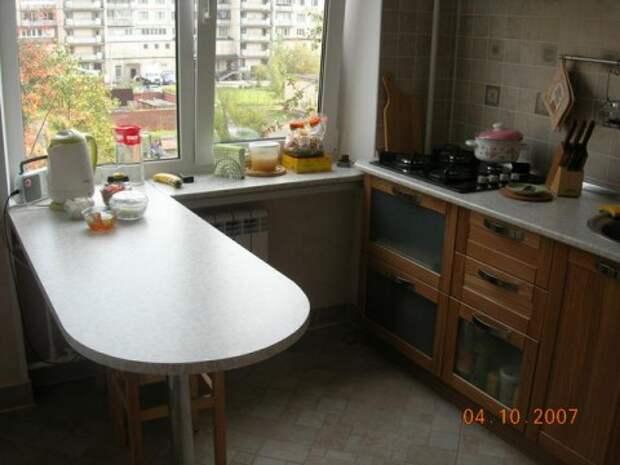 Холодильник на маленькой кухне