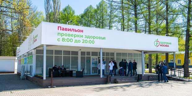 В сквере по Олонецкому проезду начал работу павильон «Здоровая Москва»