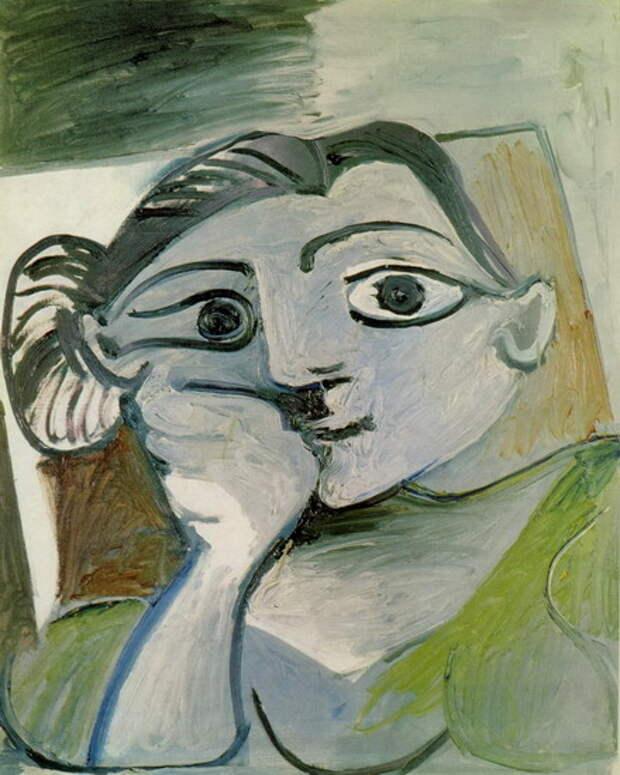 """Пабло Пикассо — """"Бюст женщины (Жаклин)"""", 1962 год"""