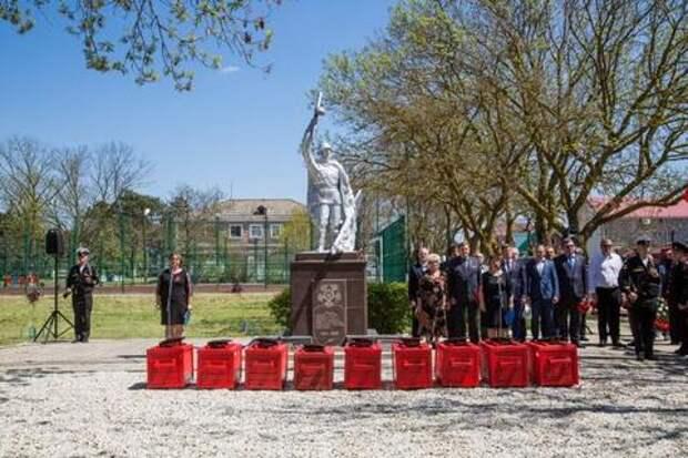 Под Анапой захоронили останки советских воинов