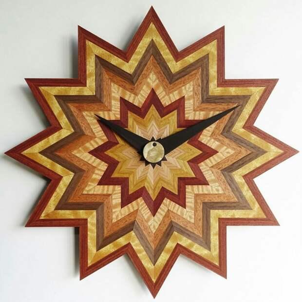 Часы из наборного дерева (подборка)