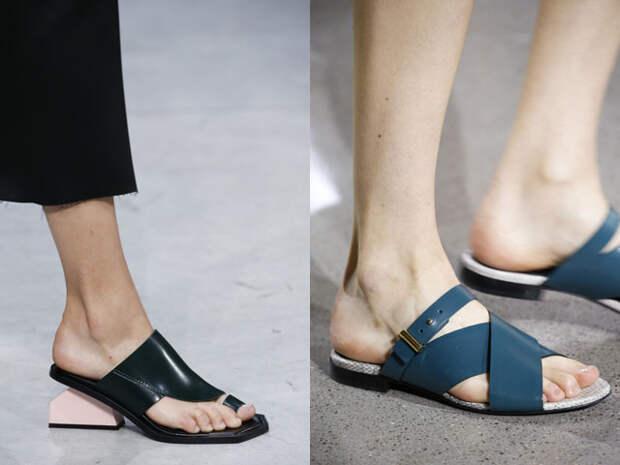 Модные шлепанцы весна-лето 2016