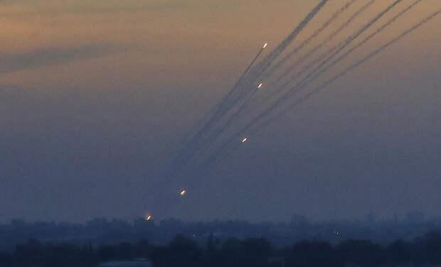 Из сектора Газа по территории Израиля выпущено около 150 ракет