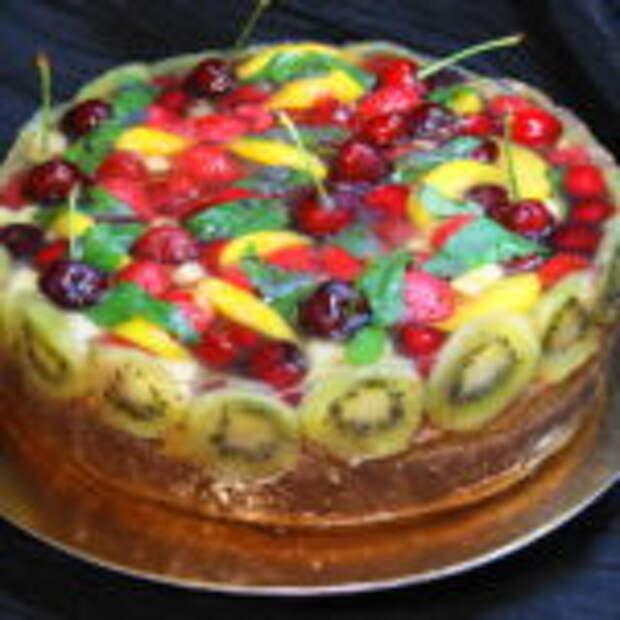 Тортик с фруктами