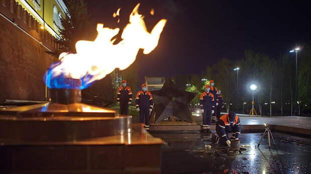 На Вечном огне в Москве проведут профилактические работы