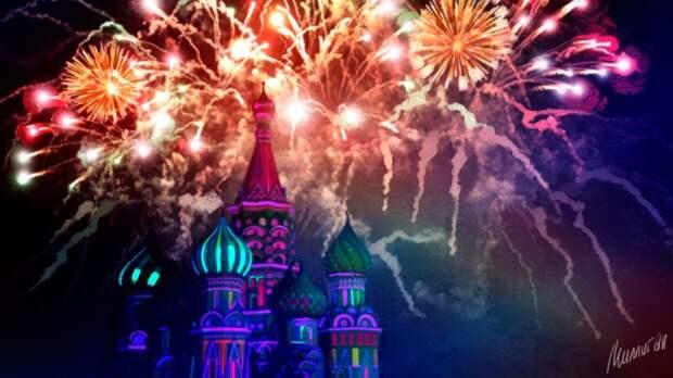Москвичи увидели торжественный салют в честь Великой Победы