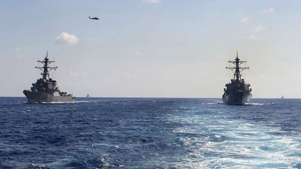 Корабли НАТО проводят маневры в районе строительства «Северного потока — 2»