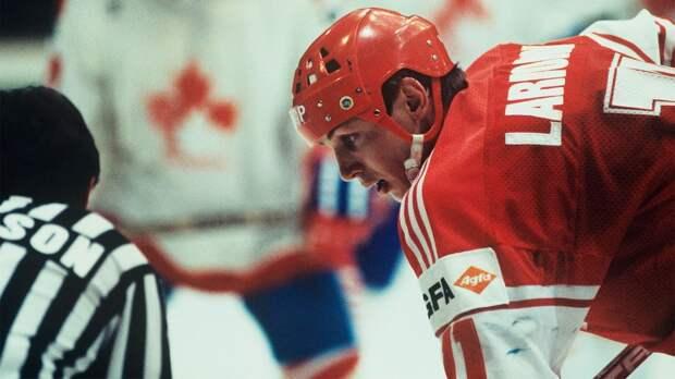 Легендарный гол советского хоккеиста Ларионова. Он пронесся через весь лед и забил Канаде броском между щитков