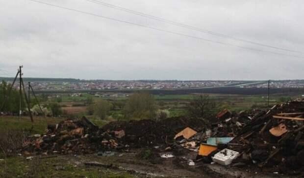 Главу поселения под Белгородом оштрафовали засвоеобразную уборку свалки
