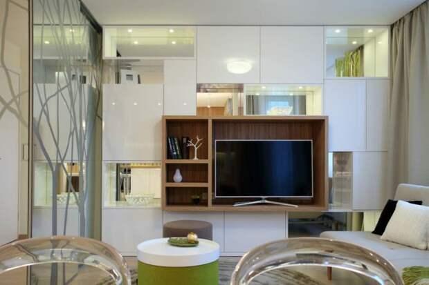 гостиная в интерьере квартиры 35 кв. м.