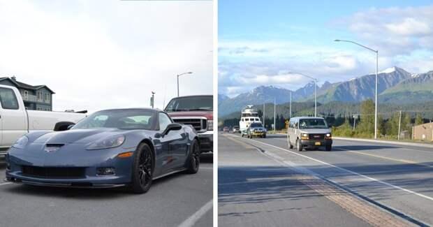 Идеальные дороги в глубинке на Аляске, которые бросают тень на дорожников России автомобили, аляска, анкоридж, горы, дороги, сша, сюард