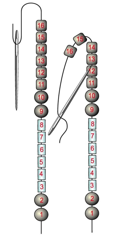 бисероплетение, колье из бисера, бижутерия, бисер, Лена рукоделие №08 2008, колье, украшение, украшения, своими руками