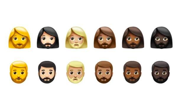 КомпанияAppleдобавила новые эмодзи с бородатыми женщинами