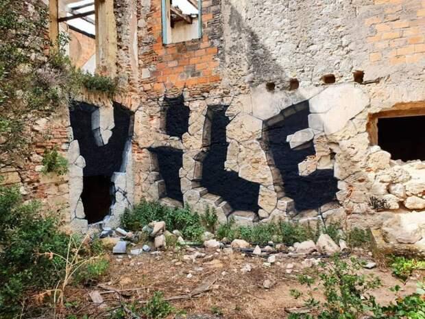 Абсолютная иллюзия: как уличный художник попрозвищу Vile «ломает» стены