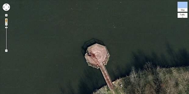 Шокирующие сцены на Картах Google