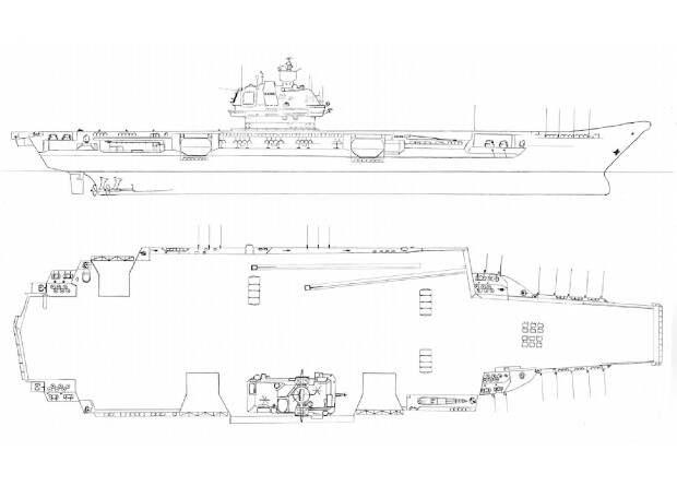 В основу российского авианосца ляжет проект советского атомного корабля