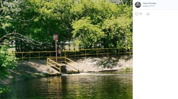 Вода в Большой Садовый пруд попадает прямиком из Химкинского водохранилища