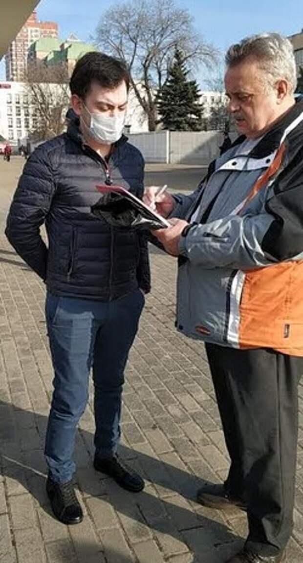 Член Общественного совета при УВД по САО принял участие в мероприятиях, направленных на соблюдение гражданами режима самоизоляции