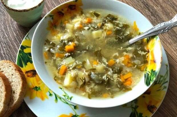 Щавелевый суп с гречкой и курицей