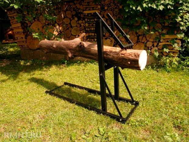 Козлы для распиловки дров: виды, конструкция, как сделать самому