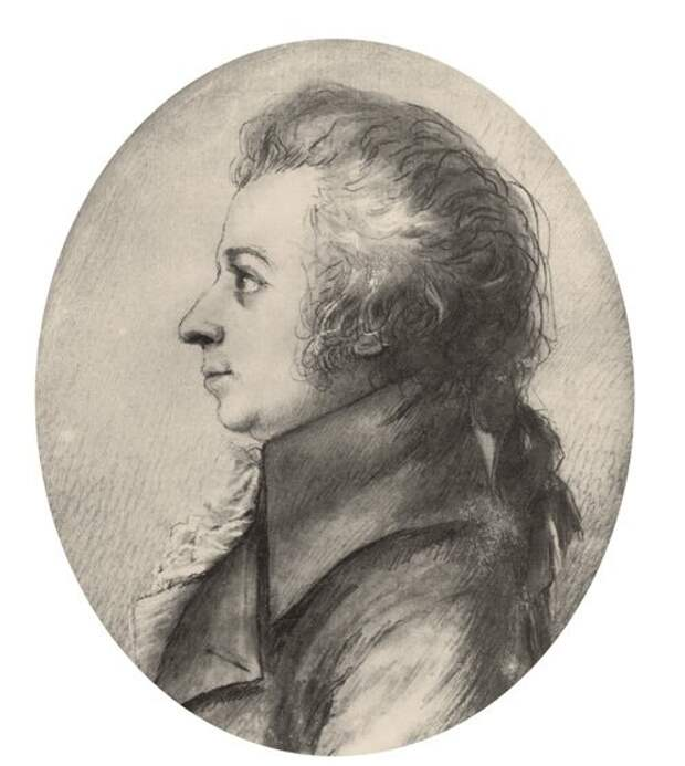 Портрет Моцарта за два года до смерти.