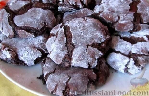 Нежное шоколадное печенье без муки