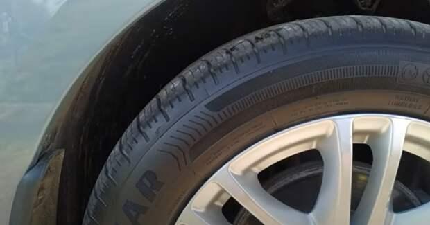 Дешевый способ чернения колес, хватает на долго, не вредит покрышкам, фото через месяц после чернения