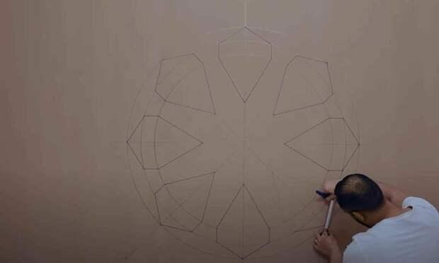 Оригинальный настенный декор из гипсокартона своими руками