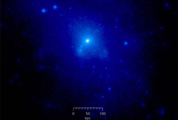 Гало темной материи может быть огромной бозонной звездой