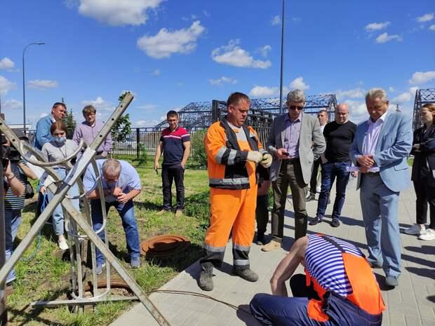 Нижегородский водоканал показал, как проходит ремонт трубопроводов по современным технологиям