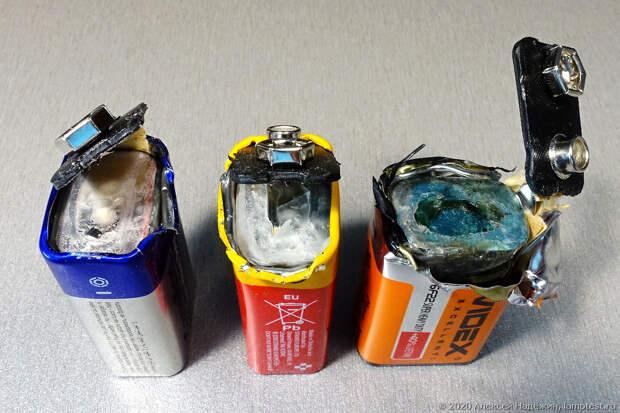 Тест батареек Крона