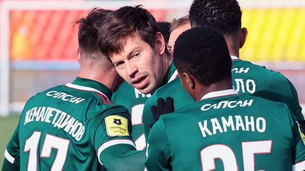 Гол и передача Смолова помогли «Локомотиву» разгромить «Арсенал» в Туле