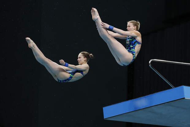 Беляева и Тимошинина одержали победу в прыжках в воду на чемпионате Европы