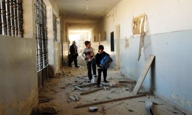 Ученики школы в Алеппо погибли при обстреле во время занятий