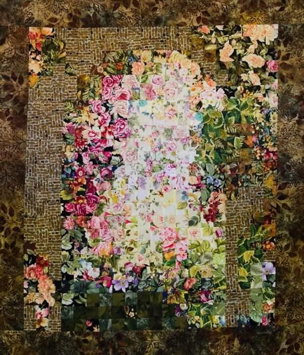 """Примеры текстильных работ в технике """"Акварель"""""""
