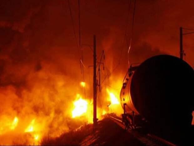 В Харькове партизаны взорвали состав с топливом для карателей