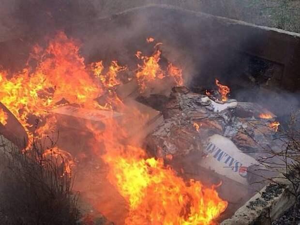 В Ленобласти вспыхнул мусорный полигон