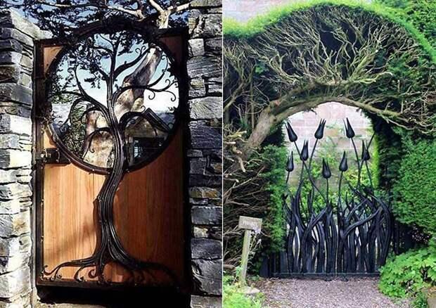 Креативные садовые калитки.
