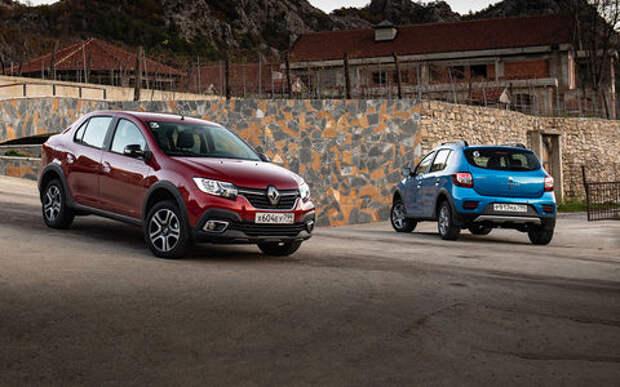 Renault Sandero и Logan в исполнениях Stepway — теперь с вариатором