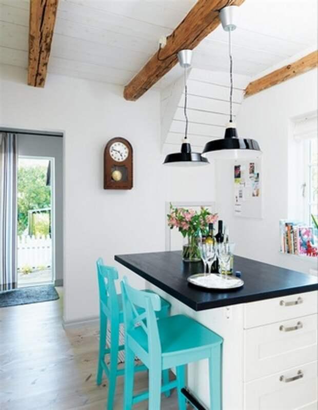 дизайн кухни с балками