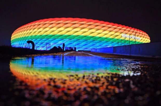 Евро-2020: в Мюнхене нарушат запрет УЕФА и все равно подсветят стадион в цвета «радуги»