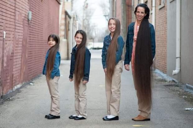 Семья Линн. История семейства с самыми длинными волосами в мире