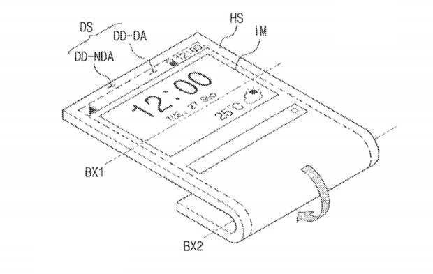 Самсунг запатентовала смартфон, сгибающийся во все стороны