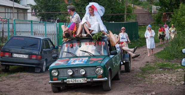 Деревенская свадьба. Самое русское, что может быть.