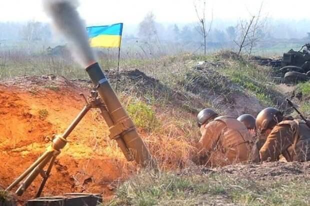 Перед выступлением Путина ВСУ обстреляли Горловку изтяжелых минометов